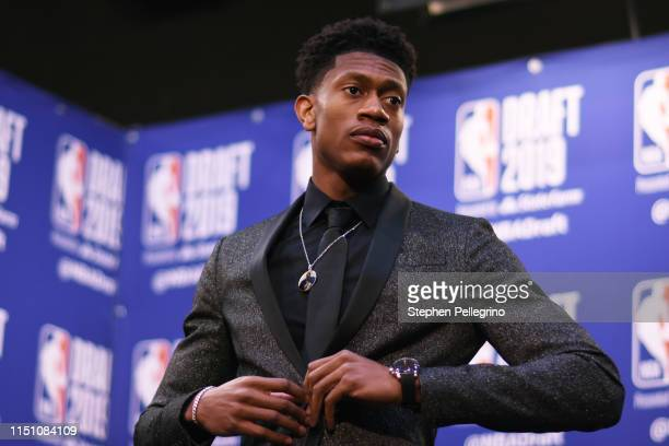 De'Andre Hunter is interviewed after being drafted by the Los Angeles Lakers during the 2019 NBA Draft on June 20 2019 at the Barclays Center in...