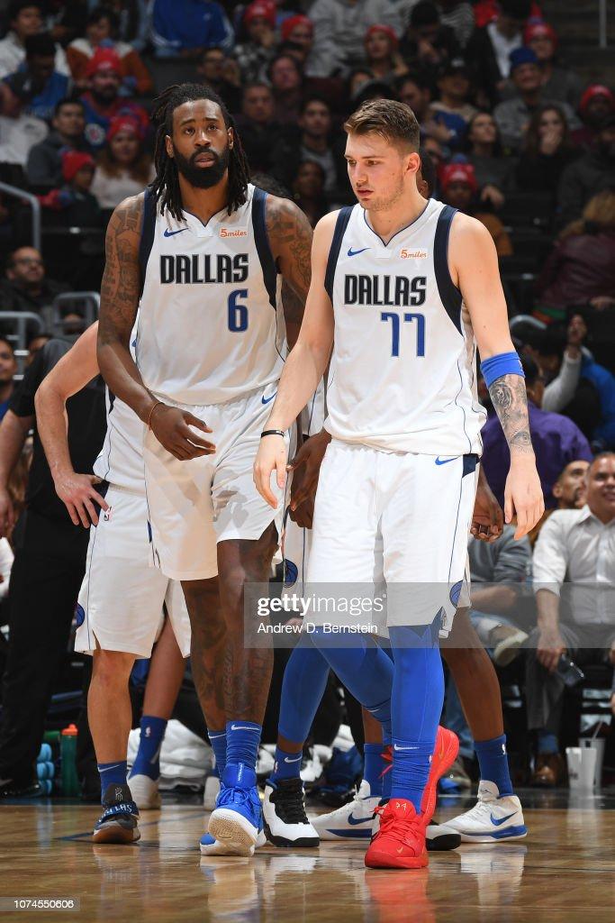 salón aprobar Relacionado  DeAndre Jordan, and Luka Doncic of the Dallas Mavericks looks on... News  Photo - Getty Images
