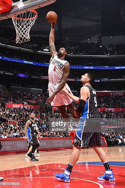 DeAndre Jordan of the LA Clippers dunks against the Orlando Magic on January 11 2017 at STAPLES Center in Los Angeles California NOTE TO USER User...