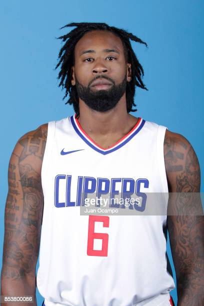 DeAndre Jordan of the Los Angeles Clippers poses for a portrait during 2017 Media Day on September 25 2017 at the Los Angeles Clippers Practice...