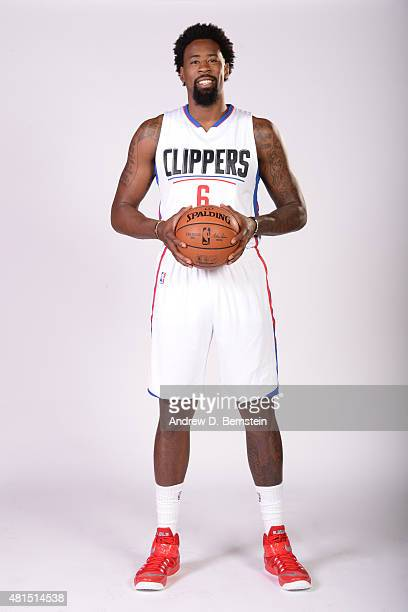 DeAndre Jordan of the Los Angeles Clippers poses for a portrait at STAPLES Center on July 21 2015 in Los Angeles California NOTE TO USER User...