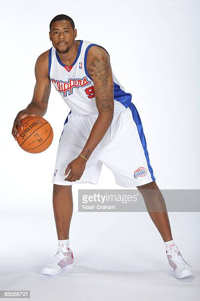 DeAndre Jordan of the Los Angeles Clippers poses for a portrait during NBA Media Day on September 29 2008 at the Clippers Training Facility in Playa...