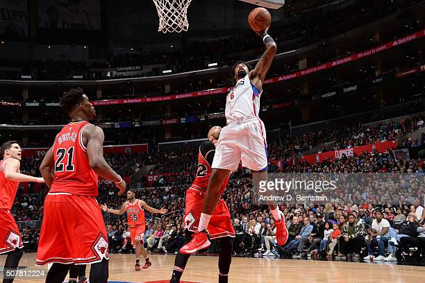 ee8901856e27 DeAndre Jordan of the Los Angeles Clippers shoots the ball against the Chicago  Bulls on January
