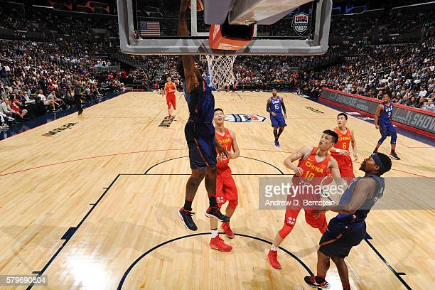 DeAndre Jordan of the USA Basketball Men's National Team dunks against China at the Staples Center in Los Angeles California NOTE TO USER User...