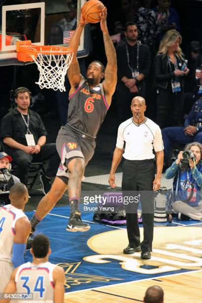 DeAndre Jordan of the Western Conference dunks during the NBA AllStar Game as part of the 2017 NBA All Star Weekend on February 19 2017 at the...