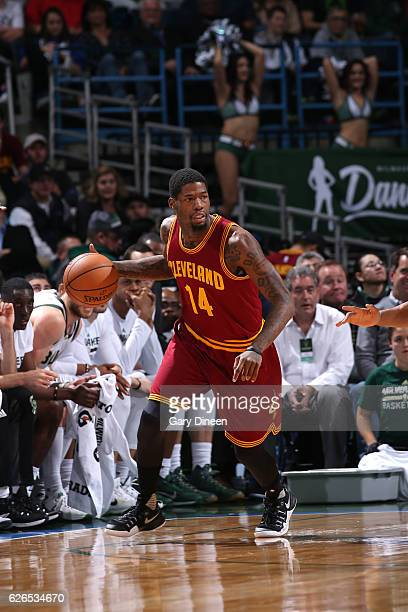 DeAndre Liggins of the Cleveland Cavaliers handles the ball during the game against the Milwaukee Bucks on November 29 2016 at the BMO Harris Bradley...