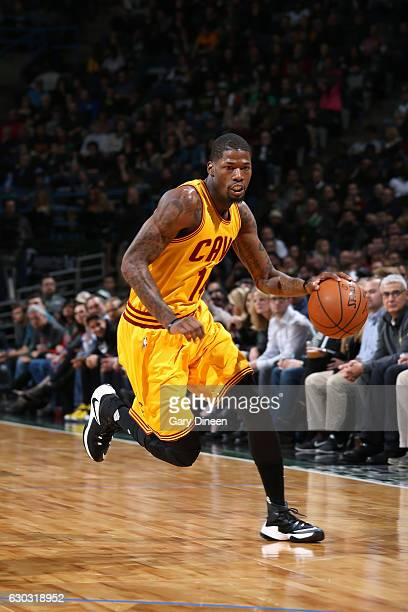 DeAndre Liggins of the Cleveland Cavaliers handles the ball during the game against the Milwaukee Bucks on December 20 2016 at the BMO Harris Bradley...
