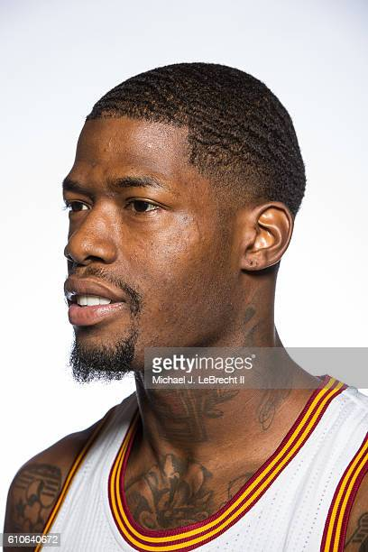DeAndre Liggins of the Cleveland Cavaliers poses for a portrait during 20162017 Cleveland Cavaliers Media Day at the Cleveland Clinic Courts on...
