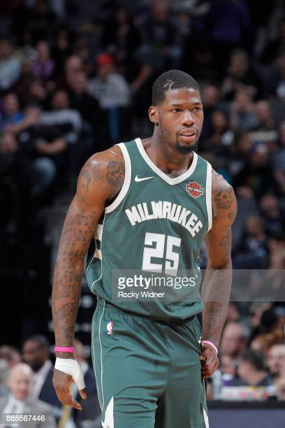 Deandre Liggins of the Milwaukee Bucks looks on during the game against the Sacramento Kings on November 28 2017 at Golden 1 Center in Sacramento...