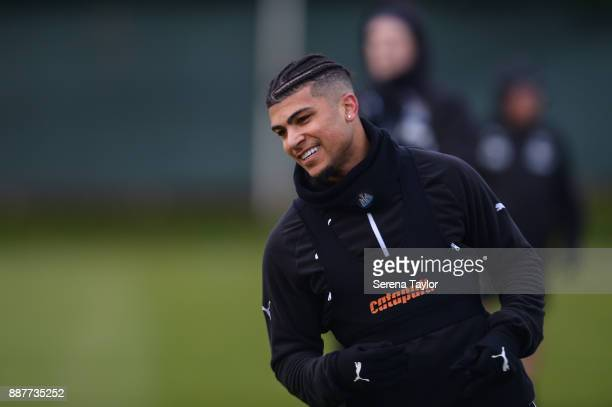 DeAndre Yedlin during a Newcastle United training session at the Newcastle United Training Centre on December 7 in Newcastle upon Tyne England
