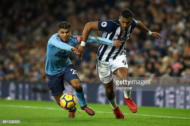 Deandre Yedlin of Newcastle United and Jose Salomon Rondon of West Bromwich Albion in action during the Premier League match between West Bromwich...
