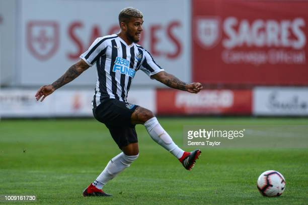 DeAndre Yedlin of Newcastle United controls the ball during a pre season friendly between Sporting Braga and Newcastle United at the Estádio...