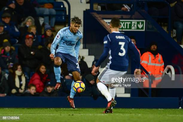 DeAndre Yedlin of Newcastle United controls the ball during the Premier League match between West Bromwich Albion and Newcastle United at The...