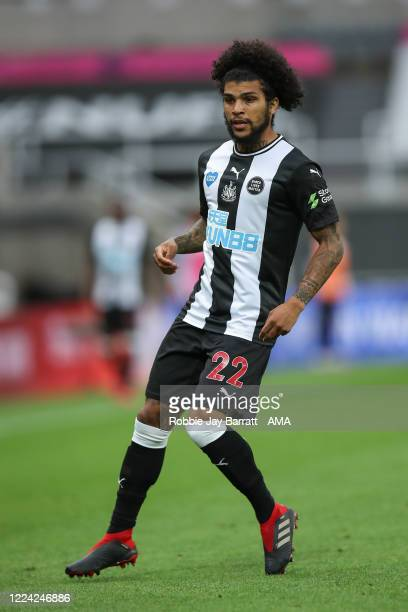 DeAndre Yedlin of Newcastle United during the FA Cup Quarter Final match between Newcastle United and Manchester City at St James Park on June 28...