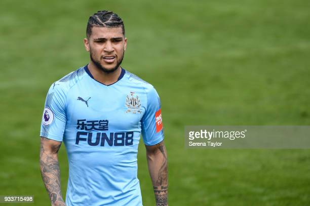 DeAndre Yedlin of Newcastle United during the friendly match between Newcastle United and Royal Antwerp FC at Pinatar Arena on March 18 i n Alicante...