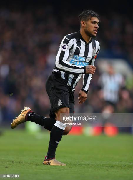 DeAndre Yedlin of Newcastle United during the Premier League match between Chelsea and Newcastle United at Stamford Bridge on December 2 2017 in...