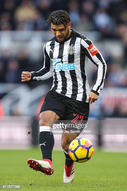 DeAndre Yedlin of Newcastle United during the Premier League match between Newcastle United and Manchester United at St James Park on February 11...