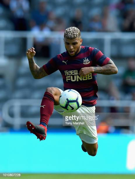DeAndre Yedlin of Newcastle United during the PreSeason Friendly match between Newcastle United and FC Augsburg at St James' Park on August 4 2018 in...