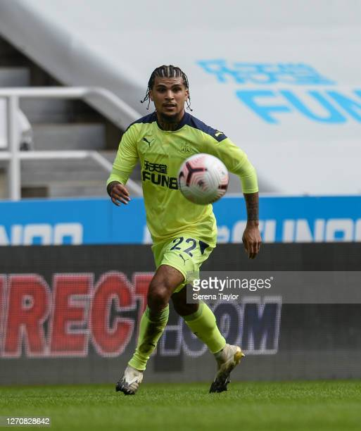 DeAndre Yedlin of Newcastle United FC looks to control the ball during the Pre Season Friendly between Newcastle United and Stoke City at St James'...