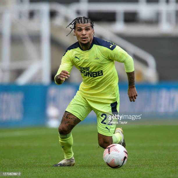 DeAndre Yedlin of Newcastle United FC runs with the ball during the Pre Season Friendly between Newcastle United and Stoke City at St James' Park on...