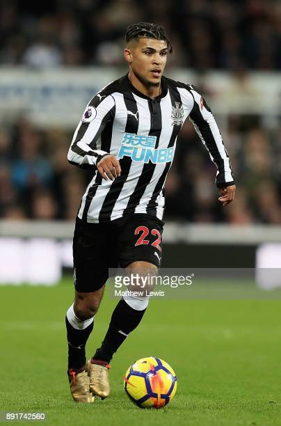 DeAndre Yedlin of Newcastle United in action during the Premier League match between Newcastle United and Everton at St James Park on December 13...
