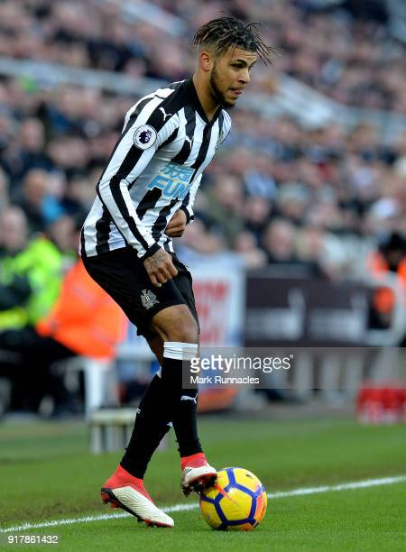DeAndre Yedlin of Newcastle United in action during the Premier League match between Newcastle United and Manchester United at St James Park on...