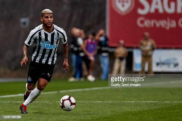 DeAndre Yedlin of Newcastle United in action during the Preseason friendly match between SC Braga and Newcastle United at Estadio Municipal de Braga...