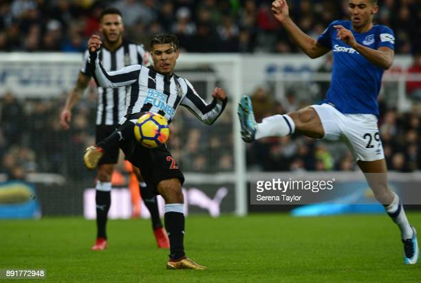 DeAndre Yedlin of Newcastle United passes the ball during the Premier League Match between Newcastle United and Everton at StJames' Park on December...