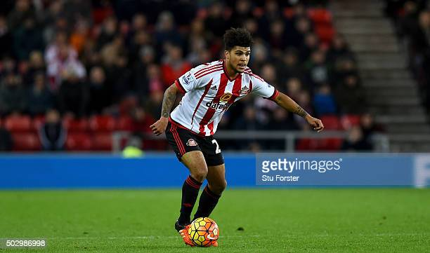 Deandre Yedlin of Sunderland in action during the Barclays Premier League match between Sunderland and Liverpoool at Stadium of Light on December 30...
