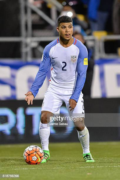 DeAndre Yedlin of the United States Men's National Team controls the ball against Guatemala during the FIFA 2018 World Cup qualifier on March 29 2016...