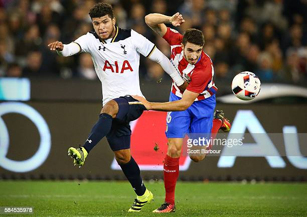DeAndre Yedlin of Tottenham Hotspur and Sime Vrsaljko of Atletico de Madrid compete for the ball during 2016 International Champions Cup Australia...