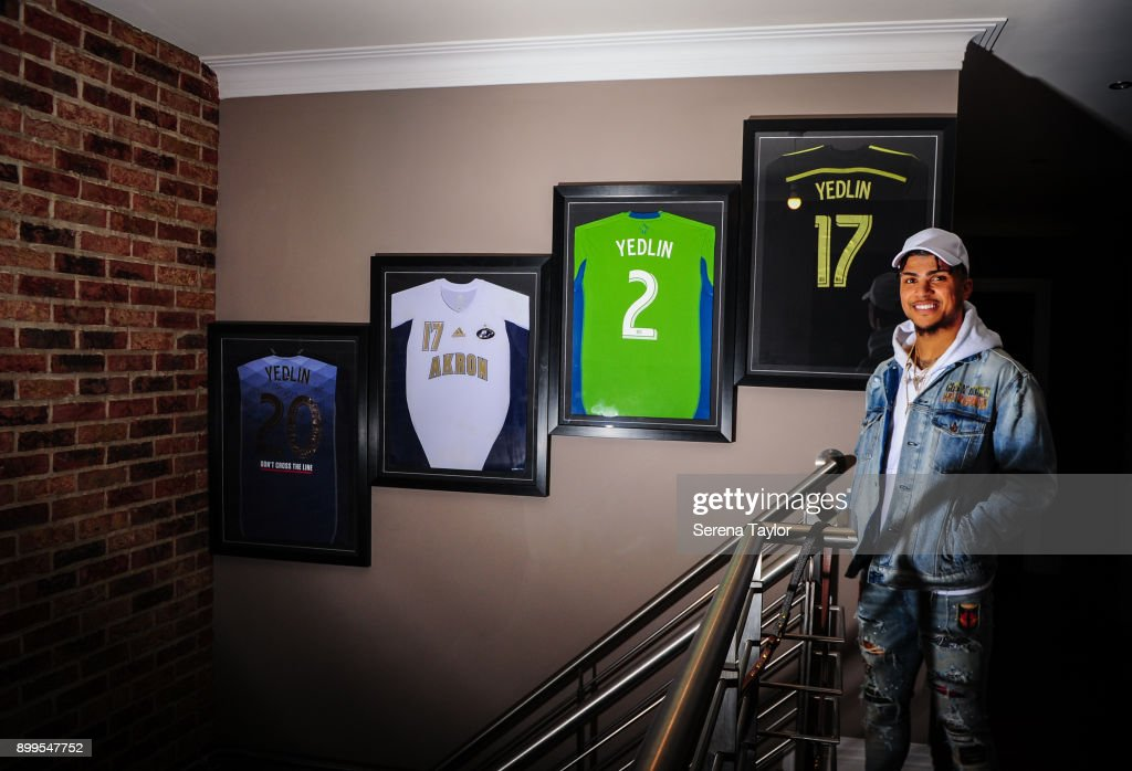DeAndre Yedlin poses for photos during a photo shoot in Jesmond on November 30, 2017, in Newcastle upon Tyne, England.
