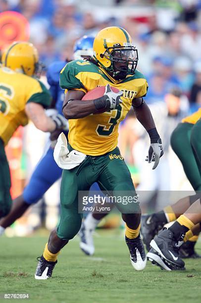 DeAngelo Branche of the Norfolk Spartans runs with the ball during the game against the Kentucky Wildcats at Commonwealth Stadium on September 6 2008...