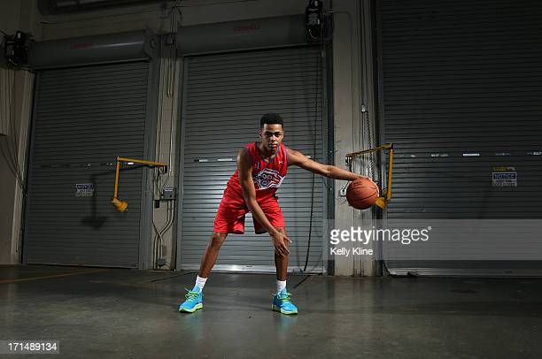DeAngelo Russell poses during a portrait session at the NBPA Top 100 Camp on June 15 2013 at John Paul Jones Arena in Charlottesville Virginia