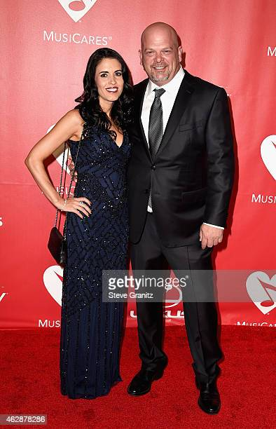 DeAnna Burditt and tv personality Rick Harrison attend the 25th anniversary MusiCares 2015 Person Of The Year Gala honoring Bob Dylan at the Los...