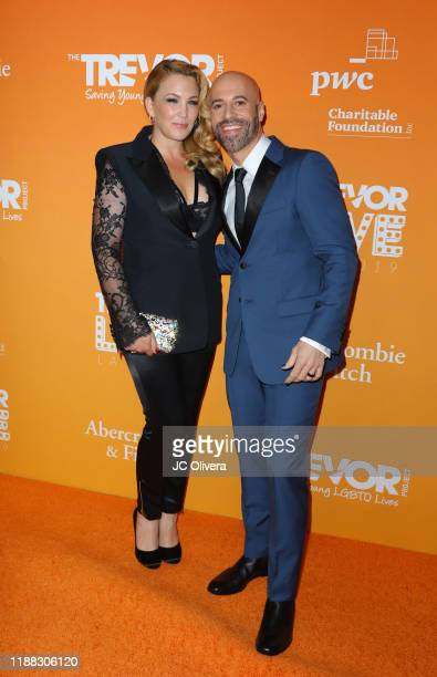 Deanna Daughtry and Chris Daughtry attend the 2019 TrevorLive Los Angeles Gala at The Beverly Hilton Hotel on November 17 2019 in Beverly Hills...
