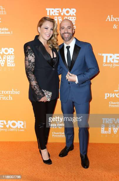 Deanna Daughtry and Chris Daughtry attend The Trevor Project's TrevorLIVE LA 2019 at The Beverly Hilton Hotel on November 17 2019 in Beverly Hills...