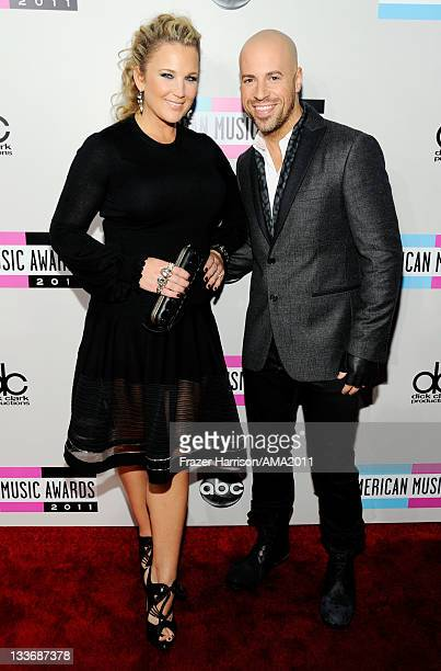 Deanna Daughtry and musician Chris Daughtry arrive at the 2011 American Music Awards held at Nokia Theatre LA LIVE on November 20 2011 in Los Angeles...