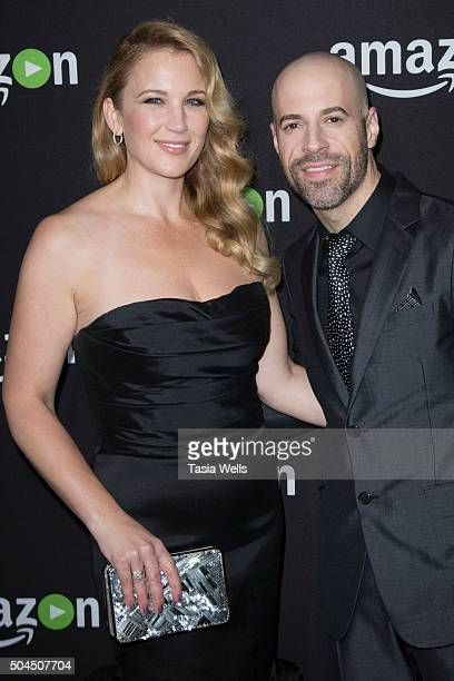 Deanna Daughtry and musician Chris Daughtry arrive at the Amazon Studios Golden Globes party at The Beverly Hilton Hotel on January 10 2016 in...