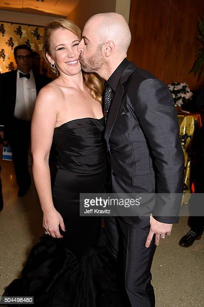 Deanna Daughtry and musician Chris Daughtry attend HBO's Official Golden Globe Awards After Party at The Beverly Hilton Hotel on January 10 2016 in...