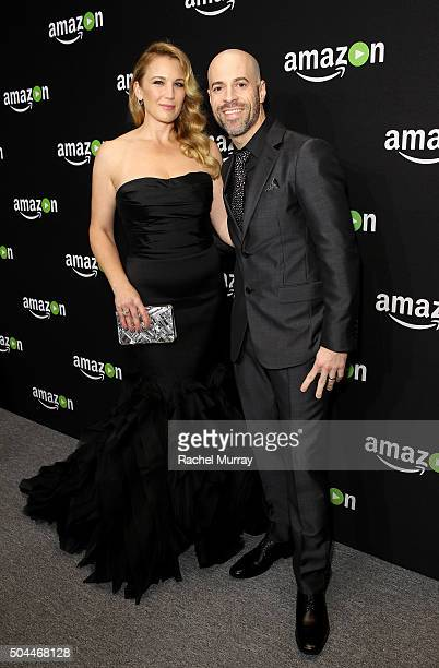 Deanna Daughtry and recording artist Chris Daughtry attend Amazon's Golden Globe Awards Celebration at The Beverly Hilton Hotel on January 10 2016 in...