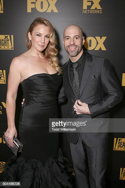 Deanna Daughtry and recording artist Chris Daughtry attends FOX Golden Globe Awards Awards Party 2016 sponsored by American Airlines at The Beverly...