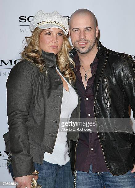 Deanna Daughtry and singer Chris Daughtry arrive at the Sony BMG Music 2008 Grammy Awards After Party held at the Beverly Hilton Hotel on February 10...
