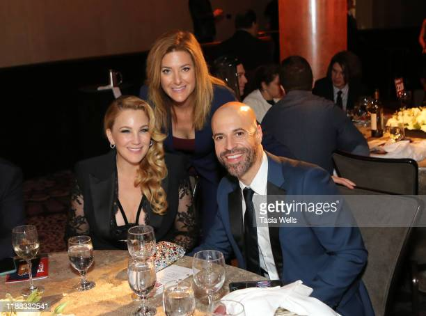 Deanna Daughtry guest and Chris Daughtry speaks onstage during The Trevor Project's TrevorLIVE LA 2019 at The Beverly Hilton Hotel on November 17...