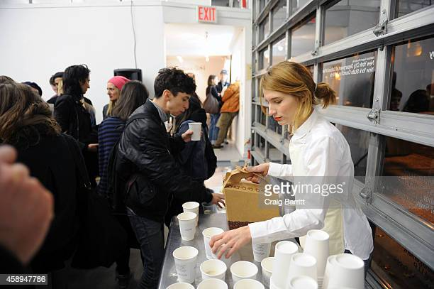 Deanna Havas attends the Swiss Institute launch celebration of Hans Ulrich Obrist's new book Ways Of Curating on November 13 2014 in New York City