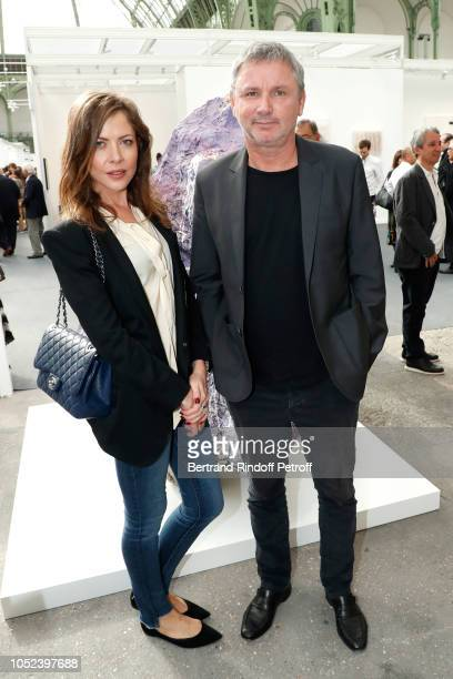 Deanna Leontieva and Founder of Zadig Voltaire Thierry Gillier attend the FIAC 2018 International Contemporary Art Fair Press Preview at Grand Palais...
