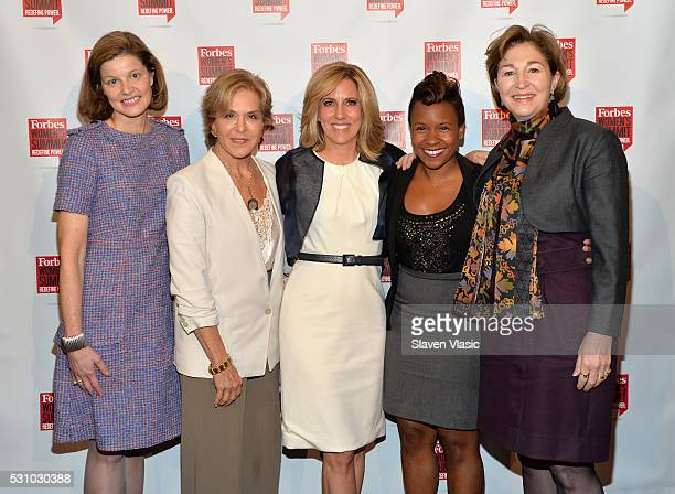 Deanna Mulligan Judith Rodin Alisyn Camerota Stephanie Lampkin and AnneMarie Slaughter attend the 2016 Forbes Women's Summit at Pier Sixty at Chelsea...