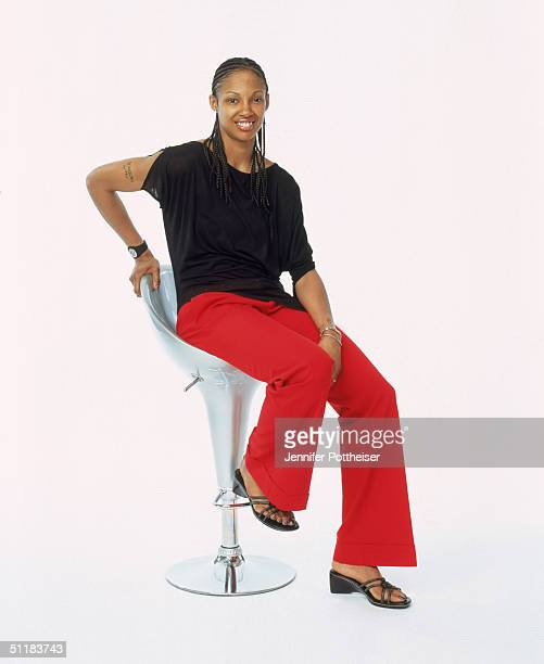 Deanna Nolan of the Detroit Shock poses for a WNBA Portrait at Westin Hotel on August 4 2004 in New York New York NOTE TO USER User expressly...