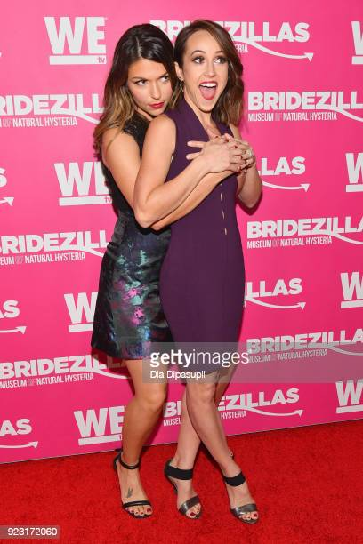 DeAnna Pappas and Ashley Hebert attend WE tv Launches Bridezillas Museum Of Natural Hysteria on February 22 2018 in New York City