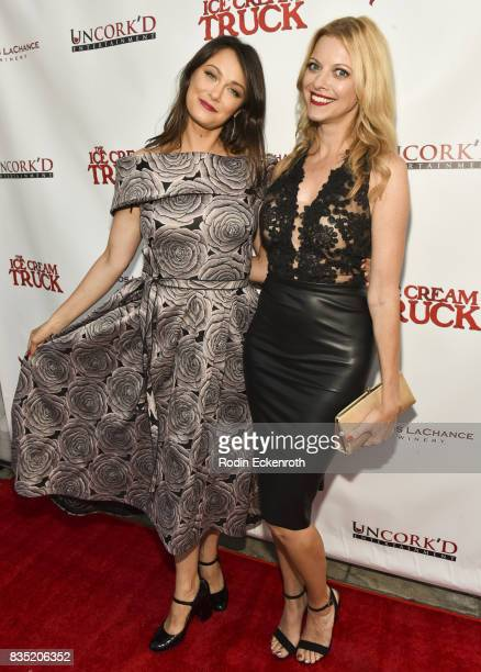 Deanna Russo and Hilary Barraford attend the premiere of Uncork'd Entertainment's The Ice Cream Truck at Ahrya Fine Arts Movie Theater on August 17...